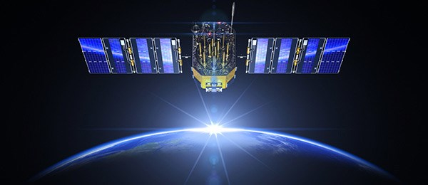 Global SATCOM Solutions - blue satellite