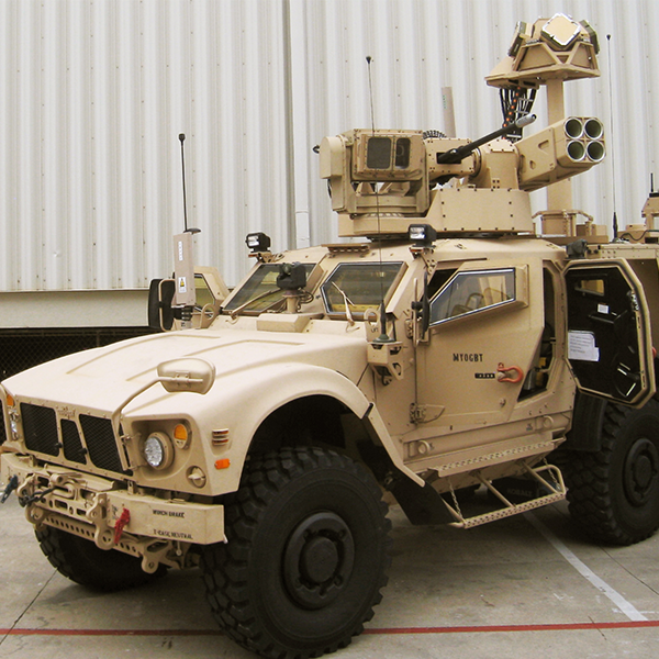 Reconfigurable Integrated-weapons Platform on combat vehicle