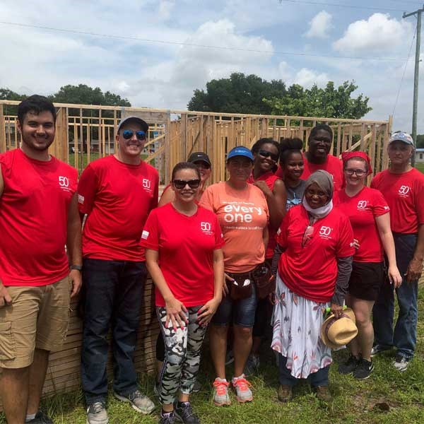 Melbourne Employees Help Habitat for Humanity Build a House