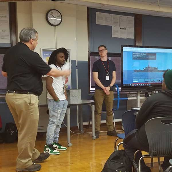 Recruiters Teach High School Students About Leonardo DRS