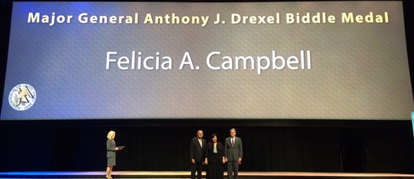 AUSA Recognizes Felicia Campbell of DRS C4ISR Group