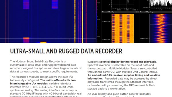 DRS' Modular Scout Solid State Recorder