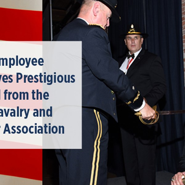 DRS Employee Receives Prestigious Award from the U.S. Cavalry and Armor Association