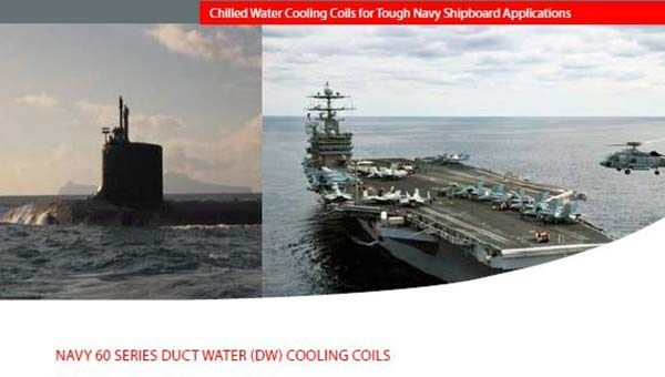 Navy Duct Water (DW) Cooling Coils